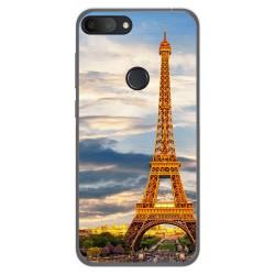 Funda Gel Tpu para Alcatel 1S 2019 diseño Paris Dibujos