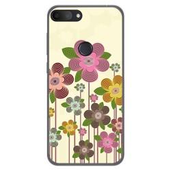 Funda Gel Tpu para Alcatel 1S 2019 diseño Primavera En Flor Dibujos