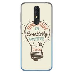 Funda Gel Tpu para Alcatel 3 2019 diseño Creativity Dibujos