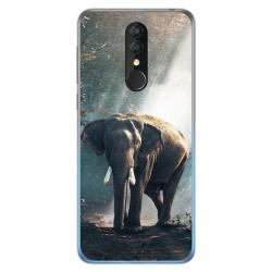 Funda Gel Tpu para Alcatel 3 2019 diseño Elefante Dibujos