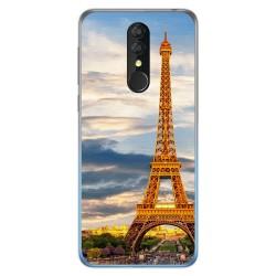 Funda Gel Tpu para Alcatel 3 2019 diseño Paris Dibujos