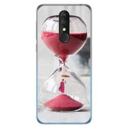 Funda Gel Tpu para Alcatel 3 2019 diseño Reloj Dibujos
