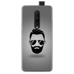Funda Gel Tpu para Oneplus 7 Pro diseño Barba Dibujos
