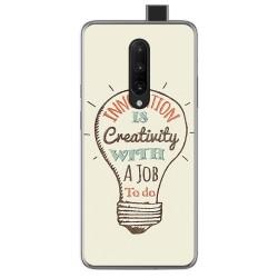 Funda Gel Tpu para Oneplus 7 Pro diseño Creativity Dibujos