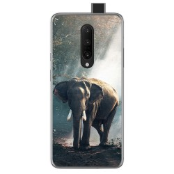 Funda Gel Tpu para Oneplus 7 Pro diseño Elefante Dibujos