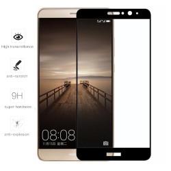 Protector Cristal Templado Frontal Completo Negro para Huawei Mate 9  Vidrio