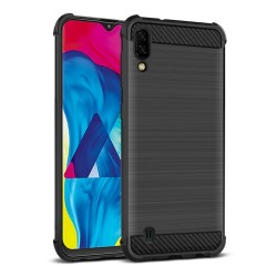 Funda Gel Tpu Anti-Shock Carbon Negra para Samsung Galaxy M10