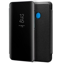 Funda Flip Cover Clear View para Samsung Galaxy A10 color Negra