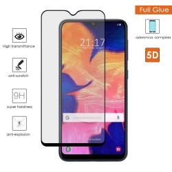 Protector Cristal Templado Completo 5D Full Glue Negro para Samsung Galaxy A10 Vidrio