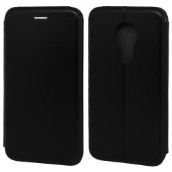 Funda Libro Soporte Magnética Elegance Negra para Motorola Moto G7 Power