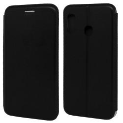 Funda Libro Soporte Magnética Elegance Negra para Samsung Galaxy A20 / A30