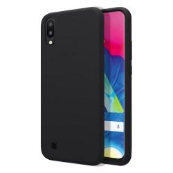 Funda Silicona Líquida Ultra Suave para Samsung Galaxy M10 color Negra
