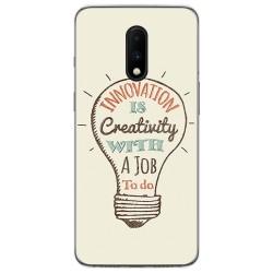 Funda Gel Tpu para Oneplus 7 diseño Creativity Dibujos