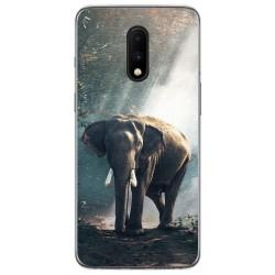 Funda Gel Tpu para Oneplus 7 diseño Elefante Dibujos