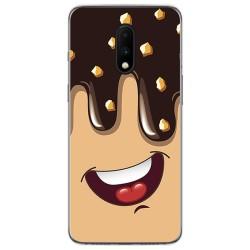 Funda Gel Tpu para Oneplus 7 diseño Helado Chocolate Dibujos