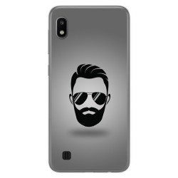 Funda Gel Tpu para Samsung Galaxy A10 diseño Barba Dibujos