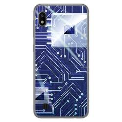 Funda Gel Tpu para Samsung Galaxy A10 diseño Circuito Dibujos
