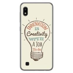Funda Gel Tpu para Samsung Galaxy A10 diseño Creativity Dibujos
