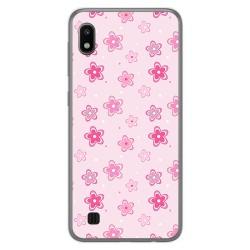 Funda Gel Tpu para Samsung Galaxy A10 diseño Flores Dibujos