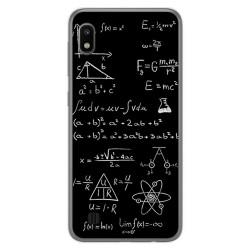 Funda Gel Tpu para Samsung Galaxy A10 diseño Formulas Dibujos