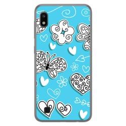 Funda Gel Tpu para Samsung Galaxy A10 diseño Mariposas Dibujos