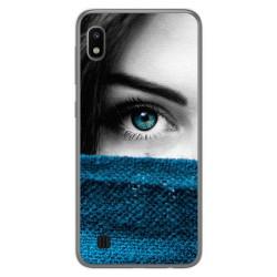 Funda Gel Tpu para Samsung Galaxy A10 diseño Ojo Dibujos
