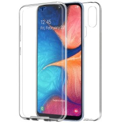 Funda Completa Transparente Pc + Tpu Full Body 360 para Samsung Galaxy A20e 5.8