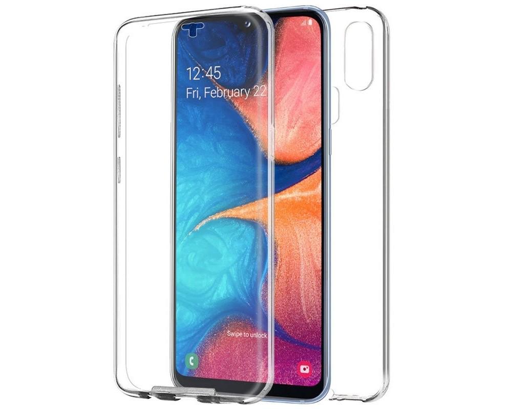 Funda Completa Transparente Pc + Tpu Full Body 360 para Samsung Galaxy A20e 5.8