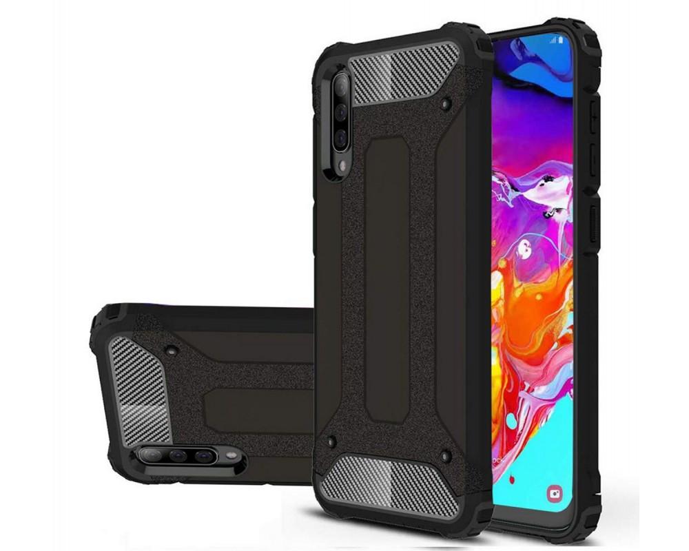 Funda Tipo Hybrid Tough Armor (Pc+Tpu) Negra para Samsung Galaxy A50