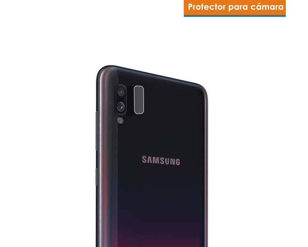 Protector Cristal Templado Cámara Trasera para Samsung Galaxy A40 Vidrio