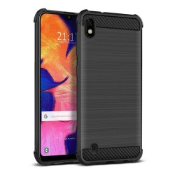 Funda Gel Tpu Anti-Shock Carbon Negra para Samsung Galaxy A10