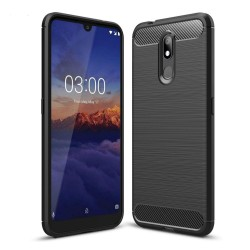 Funda Gel Tpu Tipo Carbon Negra para Nokia 3.2