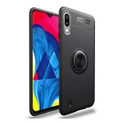 Funda Magnetica Soporte con Anillo Giratorio 360 para Samsung Galaxy A10 Negra