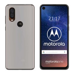 Funda Gel Tpu para Motorola One Vision Color Transparente