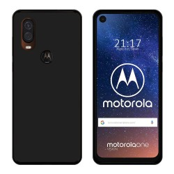 Funda Gel Tpu para Motorola One Vision Color Negra