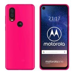 Funda Gel Tpu para Motorola One Vision Color Rosa