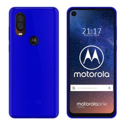 Funda Gel Tpu para Motorola One Vision Color Azul