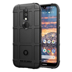 Funda Armor Rugged Shield Antigolpes para Nokia 4.2 color Negra