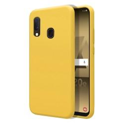Funda Silicona Líquida Ultra Suave para Samsung Galaxy A20e 5.8 color Amarilla