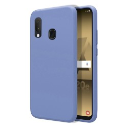 Funda Silicona Líquida Ultra Suave para Samsung Galaxy A20e color Azul Celeste