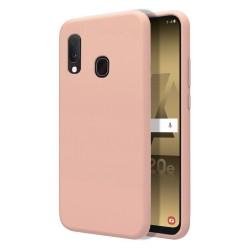 Funda Silicona Líquida Ultra Suave para Samsung Galaxy A20e 5.8 color Rosa