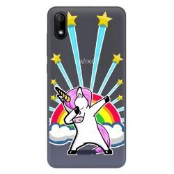 Funda Gel Transparente para Wiko Y60 diseño Unicornio Dibujos
