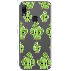 Funda Gel Transparente para Huawei Y6 2019 / Y6s 2019 diseño Cactus Dibujos