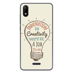 Funda Gel Tpu para Wiko Y60 diseño Creativity Dibujos