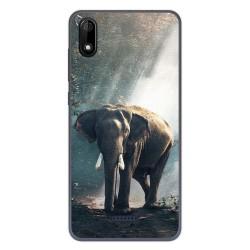 Funda Gel Tpu para Wiko Y60 diseño Elefante Dibujos