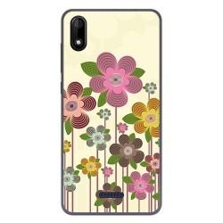 Funda Gel Tpu para Wiko Y60 diseño Primavera En Flor Dibujos