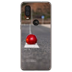 Funda Gel Tpu para Motorola One Vision diseño Apple Dibujos