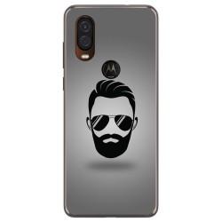 Funda Gel Tpu para Motorola One Vision diseño Barba Dibujos
