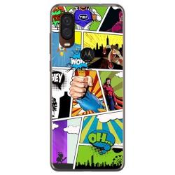 Funda Gel Tpu para Motorola One Vision diseño Comic Dibujos
