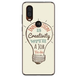 Funda Gel Tpu para Motorola One Vision diseño Creativity Dibujos